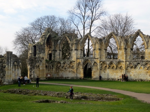 Ruins of St. Mary's Monastery in York- once the wealthiest monastery in northern England, it was shuttered by Henry VIII during his dissolution of the monasteries.